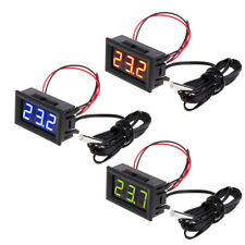 12v Mini Tester Car Digital Led Temperature Thermometer Meter Gauge Sensor Probe