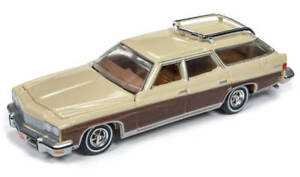 Auto-World-1-64-1975-Buick-Estate-Station-Wagon-Sand-Beige-AW64192