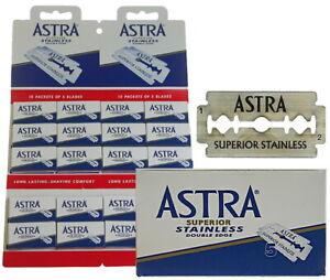 100-Astra-Superior-Acier-Inoxydable-Lames-de-Rasoir-Pour-Double-Bord-Gillette