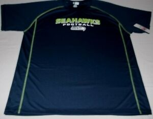 quality design ed52a 4caa2 Details about Seattle Seahawks Synthetic Jersey Shirt Stay Dry Plus Sizes  VF Imagewear NFL