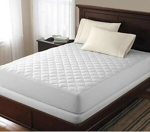 Protector-de-cama-de-Lujo-Colchon-Acolchado-equipado-cubierta-Topper-solo-Doble-King-Nuevo
