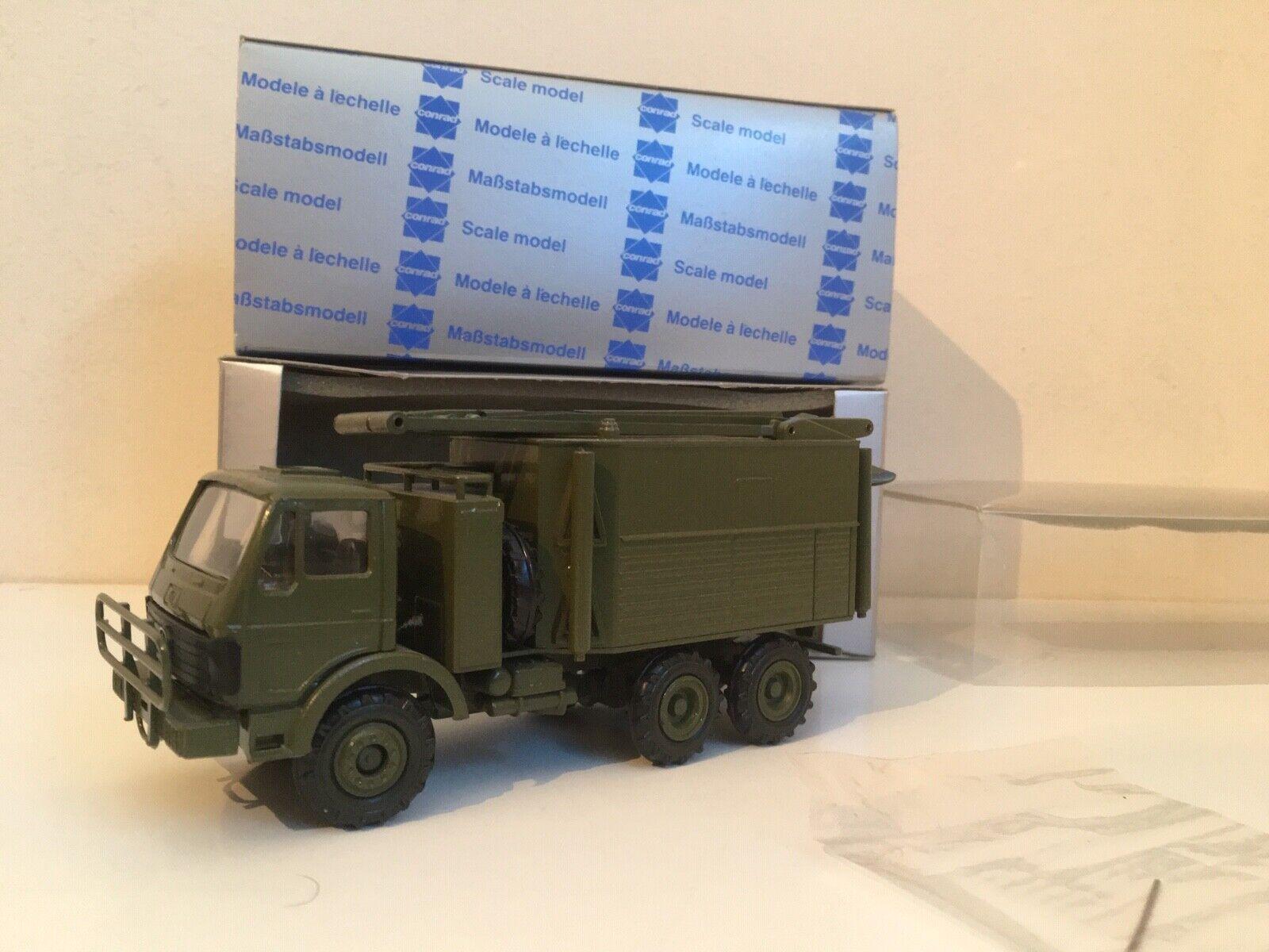 RARE 1 50 Conrad 3085 - Ericsson-Giraffe Mercedes Military Model - M VNM + BOXED