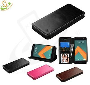 For-HTC-10-Phone-Case-Flip-Wallet-Leather-Card-Protective-Cover-Stand-Pouch-New