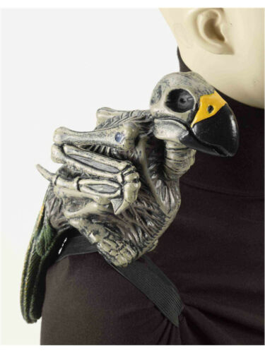 """12/"""" Ghost Pirate Costume Accessory Zombie Skeleton Parrot on Shoulder"""