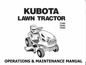 Magnificent Kubota T1880 T2080 T2380 Manual W Garden Tractor Operation Service Wiring Cloud Hisonuggs Outletorg