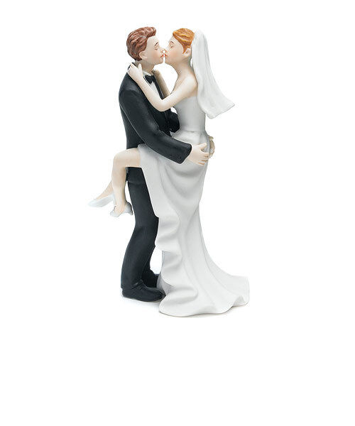"""""""Kissing Couple"""" Wedding Cake Topper COMPLETE COLOR CUSTOMIZATION Avail."""