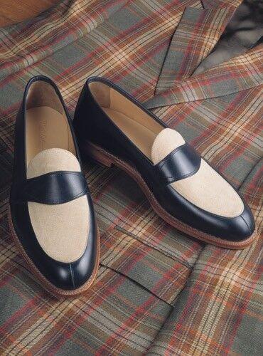 Zapatos De Cuero Zapatos de vestir de dos tonos hecho a mano, De hombre Zapatos Hombres Formal espectador