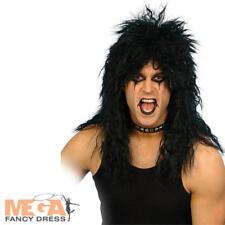 Hard Rocker Blonde Wig Fancy Dress 1980s Rock Star Celebrity Costume Accessory
