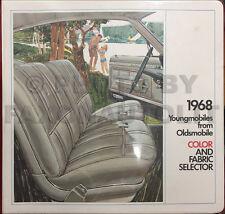 1968 Oldsmobile Color Upholstery Dealer Album 442 S Cutlass F85 98 88 Toronado
