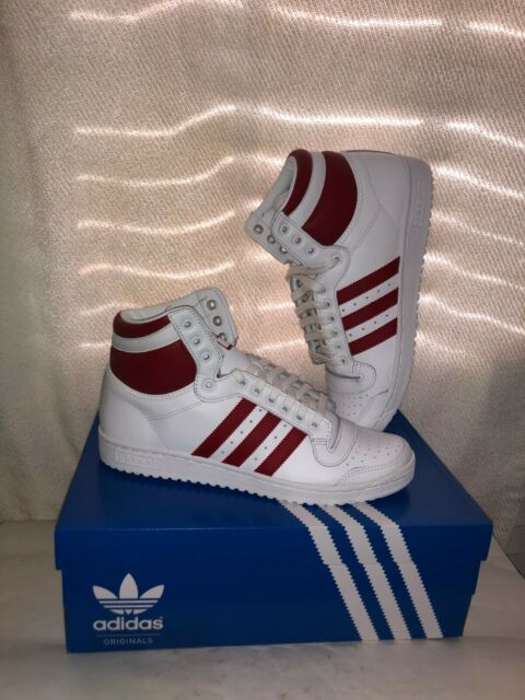 Size 9.5 - adidas Top Ten High White