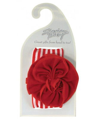 Hair Accessories Stephan Baby Rangée Votre Bateau Fille Rouge à Rayures W Fleur Bandeau à Baby & Toddler Clothing
