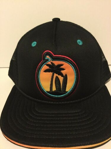 Brand New One Size Fits All YUMS Paradise Beach SnapBack Hat