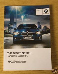 genuine bmw 1 series f20 f21 handbook owners manual 2011 2015 book rh ebay ie bmw 1 series owners manual 2009 bmw 1 series owners manual pdf download