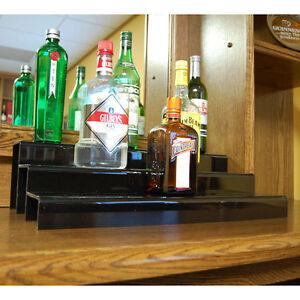 Image Is Loading Liquor Bottle Shelf 24 Inch 3 Tier Black