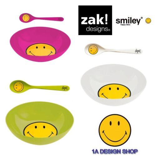Löffel ZAK design Frühstücks-Set SMILEY Müslischale Outdoor Camping Picknick