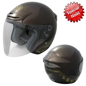 Casque-jet-Scooter-QUAD-MOTO-Homologue-CE-XS-53-54CM-casco-helmet-top-matos