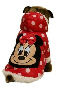 Minnie-Mouse-Polka-dot-Dress-Up-Dog-Costume-Hoodie-Jumper-Coat-Med-Large-amp-XL