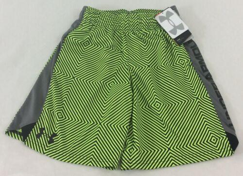 Under Armour BOY/'S All Season Gear SHORTS Neon Green Gray YOUTH Size XL
