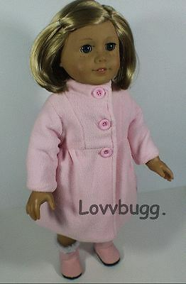 b20b068e3 Lovvbugg Lined Pink Coat Doll Clothes for 18 inch American Girl Doll ...