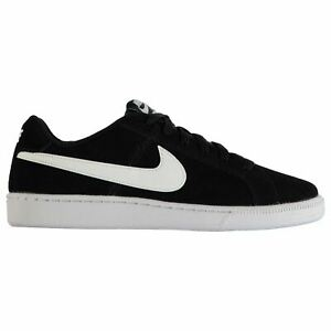 superior quality 75a15 abea2 Image is loading Nike-Court-Royale-Trainers-Mens-Black-White-Sports-
