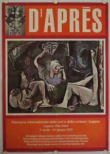 Affiche D'aprÈs Hommages - Profanations Dans L'art 1971 Exposition Villa Ciani