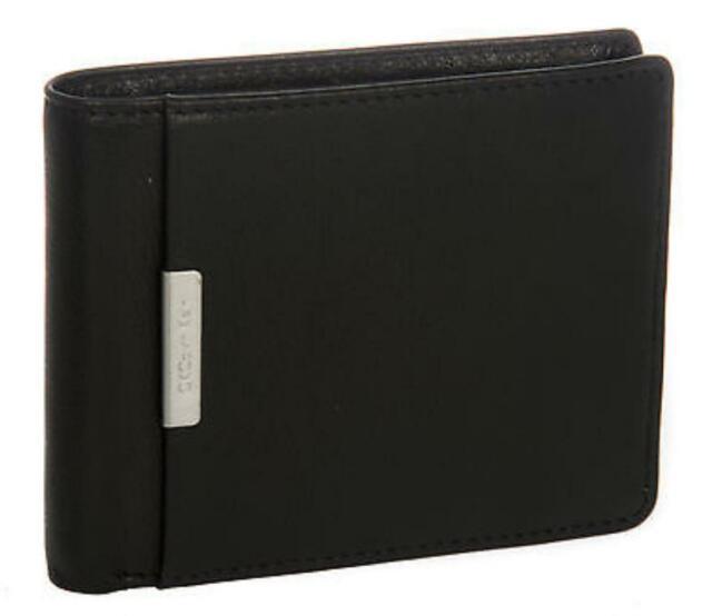 ben noto diversamente disabilità strutturali Portafoglio Uomo Pelle Wallet CK Calvin Klein A.kcr118 Col.999 Nero Black