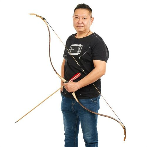 Traditional Archery Recurve Bow Mongolian Style Horsebow Hunting Target 25-40lb