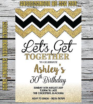 Personalised Photo birthday invitations envs 18th 21st 30th 40th 50th 60th
