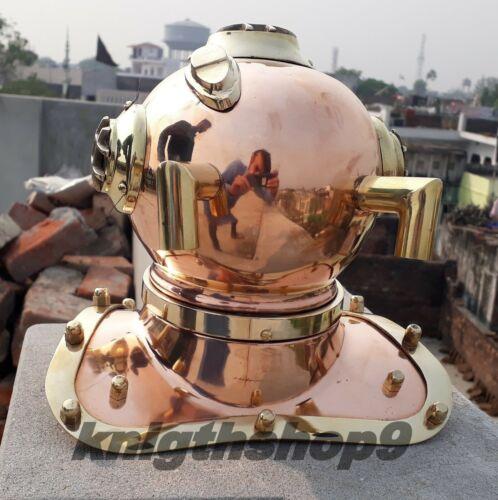 U.S.Navy Mark Mini Diving Helmet Antique Brass Deep Steel Sea Divers Helmet Gift