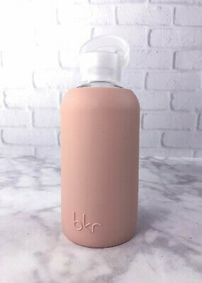 BKR Glass Water Bottle Little 16oz 500mL Naked Star Silicone Sleeve Pink Nude