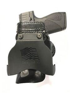 Belt Ride Leather Gun Holster LH RH For Taurus PT111 G2