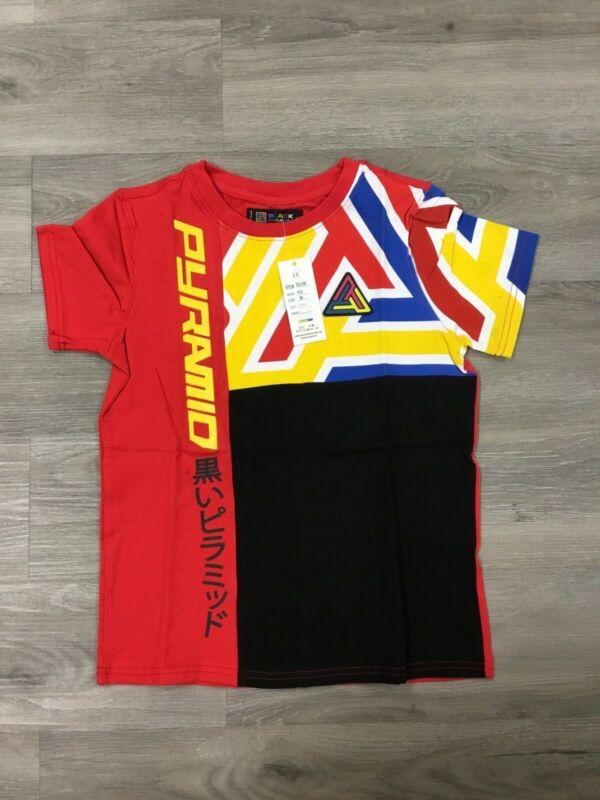 Black Pyramid Boys Red Graphic Tee Size Medium New