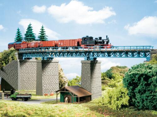 Stahlbrücke im Bogen #NEU in OVP# Auhagen 13325 Spur TT