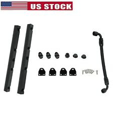 Fuel Rails With Fittings Amp Crossover Hose For Ls1 Ls6 8an High Flow Black Fits Corvette