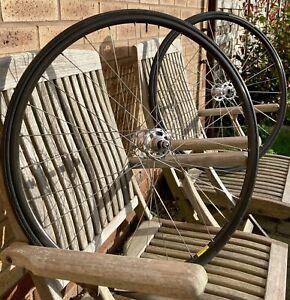 Campagnolo Record/ Mavic CLINCHER Track Wheel Set pista fixed gear