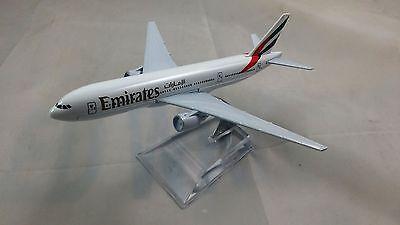 16cm 777 EMIRATES DUBAI EK BOEING AIRLINE PLANE MODEL METAL AEROPLANE TOY STAND