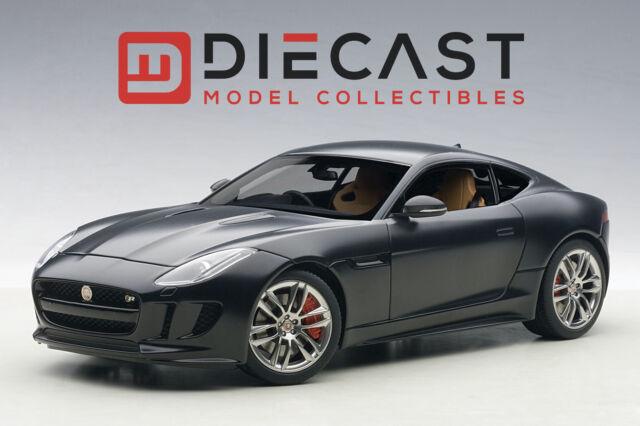 2015 Jaguar F Type R Coupe Matt Black 1/18 Model Car By AUTOart