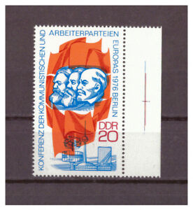 DDR-R-d-a-Conference-le-Arbeiterparteien-Minr-2146-Droit-Bord-1976-MNH