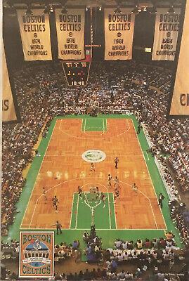 Boston Garden Celtics Vintage 22 X33 Nba Poster Cousy