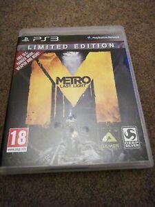METRO-LAST-LIGHT-LIMITED-EDITION-Sony-PlayStation-3-PS3-Gioco