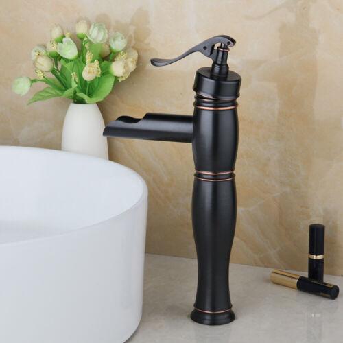 Oil Rubbed Bronze Bathroom Basin Sink Vessel Faucet Mixer Vintage Brass Taps