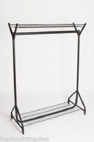 Long Vêtements Rail Stockage Rack étagère en Noir en Résille environ 1.22 m Super Résistant 4 ft