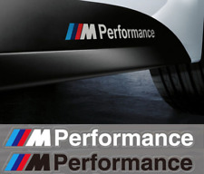 2pcs WHITE BMW M Performance Decal Side Skirt Vinyl Stickers Sticker Sport Body