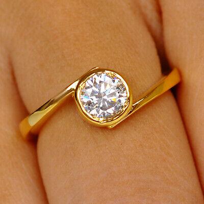 1,40kt 585er Gelbgold Runden Form Wunderbar Solitär Verlobung Ring Fine Rings Jewelry & Watches
