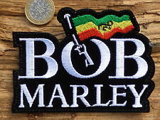 ECUSSON PATCH THERMOCOLLANT aufnaher toppa BOB MARLEY reggae rock  / 10.5X7.7CM