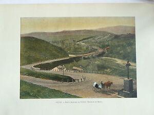 Fougueux Georgie Sites Et Paysages Photogravure Route Militaire Descente De Mleta