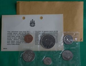 With original envelope and COA RCM Uncirculated Proof Like Set 1968
