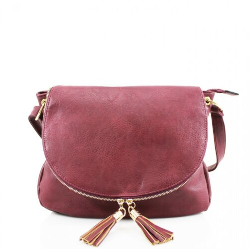 Existencias Existencias Long Existencias burgundyno Bag Existencias Faux Leather Cross coralno Beigeno greyno black navyno camel Medium purple Hay Tassle brown Body Strap Ladies Existencias whiteno Shoulder Tote Zip Existencias wxqzUTRpR