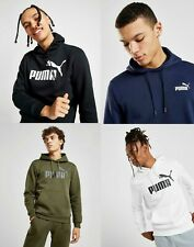 New Puma Men's Core Logo Overhead Hoodie Black, Blue, Green, White