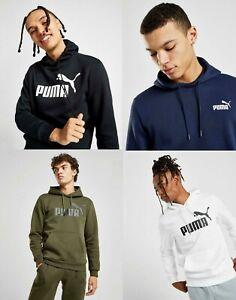 New Puma Men's Core Logo Overhead Hoodie Black, Blue, Green, White